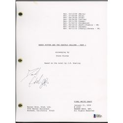 """Daniel Radcliffe Signed """"Harry Potter And The Deathly Hallows"""" Movie Script (Beckett Hologram)"""