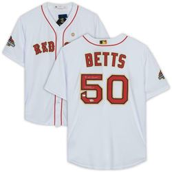 """Mookie Betts Signed Boston Red Sox Jersey Inscribed """"18 WS Champs"""" (Fanatics Hologram  MLB Hologram)"""