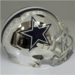 Ezekiel Elliott Signed Dallas Cowboys Speed Chrome Mini-Helmet (Beckett COA)