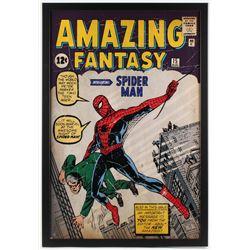 Stan Lee Signed Marvel Comics Retro: Amazing Spider Man 26x38 Custom Framed Poster (Steiner Hologram