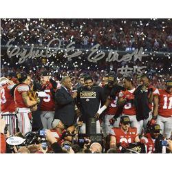 Ezekiel Elliott Signed Ohio State Buckeyes 8x10 Photo (JSA Hologram)
