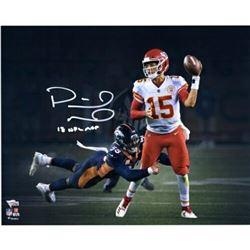 """Patrick Mahomes Signed Kansas City Chiefs """"Lefty Throw"""" 16x20 Photo Inscribed """"18 NFL MVP"""" (Fanatics"""