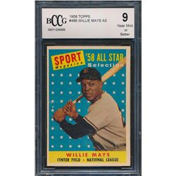 1958 Topps #486 Willie Mays AS (BCCG 9)