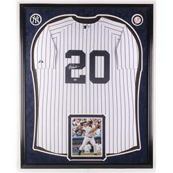 Jorge Posada Signed 34x42 Custom Jersey Display (Steiner COA  MLB Hologram)