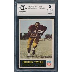 1965 Philadelphia #195 Charley Taylor RC (BCCG 8)