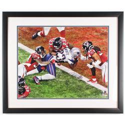 James White Signed New England Patriots 22x26 Custom Framed Photo (Fanatics COA)