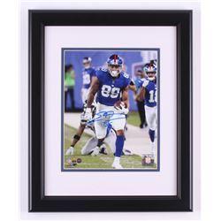 Evan Engram Signed New York Giants 13.5x16.5 Custom Framed Photo Display (Steiner Hologram)