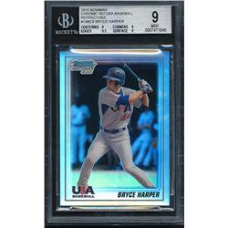 2010 Bowman Chrome 18U USA Baseball Refractors #18BC8 Bryce Harper (BGS 9)