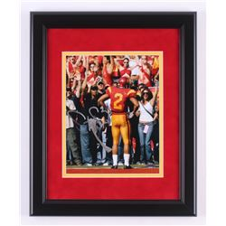 Steve Smith Signed USC Trojans 13.5x16.5 Custom Framed Photo Display (Steiner COA)