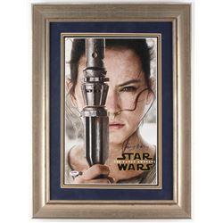 "Daisy Ridley Signed ""Star Wars: The Force Awakens"" 22x26 Custom Framed Photo (PSA COA  Steiner COA)"