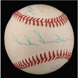 Mickey Mantle, Duke Snider  Willie Mays Signed ONL Baseball (JSA ALOA)