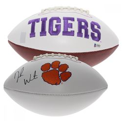 Deshaun Watson Signed Clemson Tigers Logo Football (Beckett Hologram)