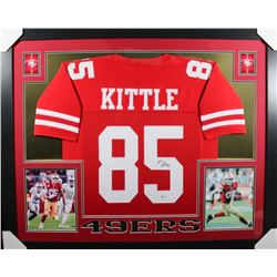 George Kittle Signed San Francisco 49ers 35x43 Custom Framed Jersey (Beckett COA)