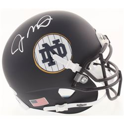 Joe Montana Signed Notre Dame Fighting Irish Matte Navy Mini Helmet (Beckett COA)