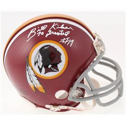 "Billy Kilmer Signed Washington Redskins Mini Helmet Inscribed ""70 Greatest"" (Jersey Source COA)"