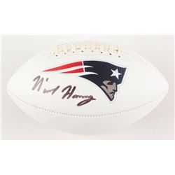 N'Keal Harry Signed New England Patriots Logo Football (Beckett COA)