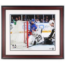 Martin St. Louis Signed New York Rangers 23x27 Custom Framed Photo (Steiner COA)