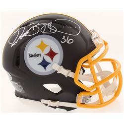 Jerome Bettis Signed Pittsburgh Steelers Matte Black Mini Speed Helmet (Beckett COA)