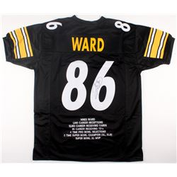 Hines Ward Signed Career Highlight Stat Jersey (JSA COA)