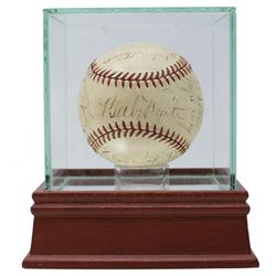 1934 New York Yankees Multi-Signed OAL Baseball Signed by (23) With Babe Ruth, Lou Gehrig, Joe Sewel