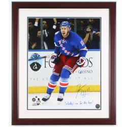 """Kevin Hayes Signed New York Rangers 22x26 Custom Framed Photo Inscribed """"Saturday's Are For The Boys"""