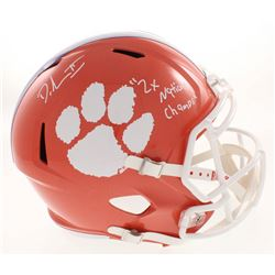 """Dexter Lawrence Signed Clemson Tigers Full-Size Speed Helmet Inscribed """"2x National Champs"""" (Beckett"""
