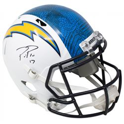 Philip Rivers Signed Los Angeles Chargers Full-Size Hydro-Dipped Speed Helmet (Beckett COA)