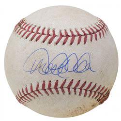 Derek Jeter Signed OML Orioles 60th Anniversary Logo Game-Used Baseball (Seiner COA  MLB Hologram)