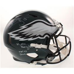"Donovan McNabb Signed Philadelphia Eagles Full-Size Authentic On-Field Speed Helmet Inscribed ""37,27"
