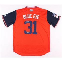 "Max Scherzer Signed Washington Nationals ""Blue Eye"" Jersey (JSA COA)"