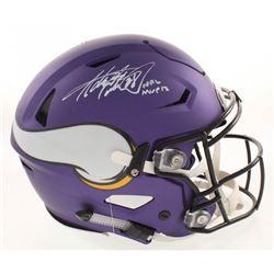 Adrian Peterson Signed Minnesota Vikings Matte Purple Full-Size Authentic On-Field Flex Speed Helmet
