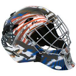 """1980 Team USA Hockey """"Miracle on Ice"""" Full-Size Goalie Mask Signed by (14) with Jim Craig, Mike Eruz"""