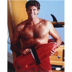 """David Hasselhoff Signed """"Baywatch"""" 11x14 Photo (JSA COA)"""
