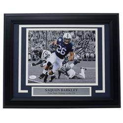 Saquon Barkley Signed Penn State Nittany Lions 11x14 Custom Framed Photo Display (JSA COA)