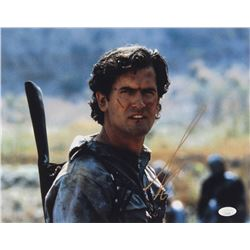 """Bruce Campbell Signed """"Army of Darkness"""" 11x14 Photo (JSA COA)"""