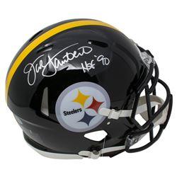 "Jack Lambert Signed Pittsburgh Steelers Full-Size Speed Helmet Inscribed ""HOF '90"" (Beckett COA)"
