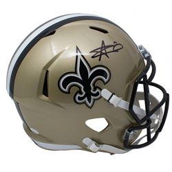 Alvin Kamara Signed New Orleans Saints Full-Size Speed Helmet (JSA COA)