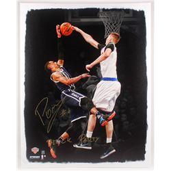 Kristaps Porzingis Signed New York Knicks 29x39 Custom Print Display (Steiner COA)