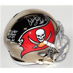 Warren Sapp Signed Tampa Bay Buccaneers Full-Size Chrome Speed Helmet with Multiple Inscriptions (JS