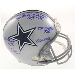 Randy White Signed Dallas Cowboys Full-Size Helmet with (5) Career Highlight Stat Inscriptions (JSA