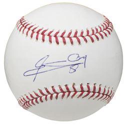 Edgar Renteria Signed OML Baseball (Beckett COA)