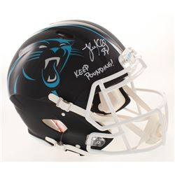 Luke Kuechly Signed Carolina Panthers Full-Size Authentic On-Field Matte Black Speed Helmet Inscribe