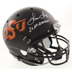 "Thurman Thomas Signed Oklahoma State Cowboys Full-Size Helmet Inscribed ""2x All-American"" (Radtke CO"