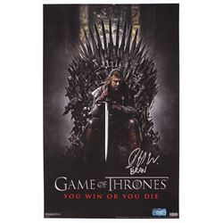 """Isaac Hempstead Wright Signed """"Game of Thrones"""" 11x17 Poster Inscribed """"Bran"""" (Radtke COA)"""
