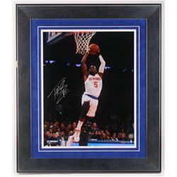 Tim Hardaway Jr. Signed New York Knicks 24.5x28.5 Custom Framed Photo Display (Steiner COA)