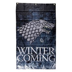 """Isaac Hempstead Wright Signed """"Game Thrones"""" 30x50 Winter is Coming Banner Inscribed """"Three-Eyed Rav"""