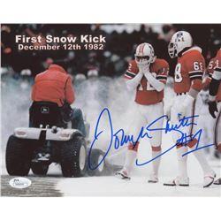 """John Smith Signed New England Patriots """"First Snow Kick"""" 8x10 Photo (JSA COA)"""
