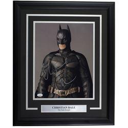 "Christian Bale Signed ""Batman Begins"" 16x20 Custom Framed Photo Display (JSA COA)"