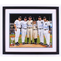 New York Yankees Perfect Game Batteries 22x26 Custom Framed Photo Signed by (6) with Joe Girardi, Da
