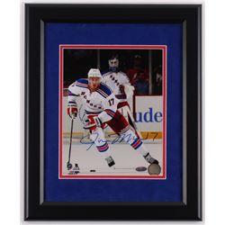 John Moore Signed New York Rangers 13.5x16.5 Custom Framed Photo Display (Steiner COA)